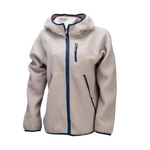 Women's Leif Sherpa Hooded Jacket - Taupe Size M